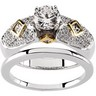 Pave Bridal Semi-Set 1/2 carat TW Engagement Ring with Matching Band | SKU: 65602