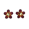 Birthstone Flower Piercing Earrings 3mm Ref 782066