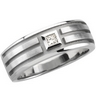 Mens .1 CTW Diamond Tapered Band 8mm Width Ref 163105