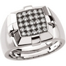 .75 CTW Mens Diamond Ring Ref 561134