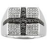 .75 CTW Gents Black and White Diamond Ring Ref 184664