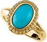 Genuine Turquoise Cabochon Ring 11 x 7mm Ref 262161