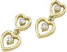 Heart Links Diamond Dangle Earrings .33 CTW Ref 230890
