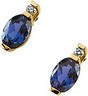 Alexandrite and Diamond Earrings 7 x 5mm .05 CTW Ref 395504