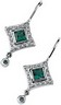 Chatham Created Emerald and Diamond Earrings .25 CTW Ref 188244