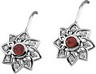 Chatham Ruby and Diamond Fish Hook Earrings 4mm .25 CTW Ref 772781