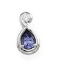 Genuine Tanzanite and Diamond Pendant 7 x 5mm .08 CTW Ref 567338