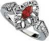 Chatham Created Ruby and Diamond Ring 7 x 3.5mm .25 CTW Ref 977130