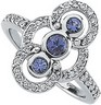 Genuine Tanzanite and Diamond Ring 3.75mm .33 CTW Ref 840817