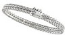 7mm Double Row, Basket Weave Chain with Fold Over Clasp 7.25 inch Ref 331517