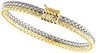 6.25mm Two Tone, Double Row, Basket Weave Chain 7.25 inch Ref 204492