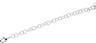 6.25mm Sterling Silver Ring Chain with Lobster Clasp 20 inch Ref 304278