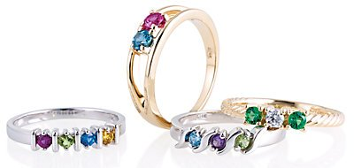 Family Jewelry Birthstone Rings