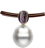 South Sea Circle Pearl and Amethyst Pendant 7 x 5mm Ref 986441