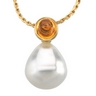 South Sea Circle Pearl and Citrine Pendant 11mm Fine Circle Ref 808312
