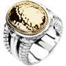 Two Tone Fashion Ring Ref 163218