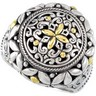 Filigree Design Ring with 18KY Accents Ref 376056