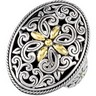 Filigree Design Ring with 18KY Accents Ref 555477