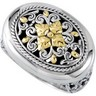 Filigree Design Ring with 18KY Accents Ref 145432