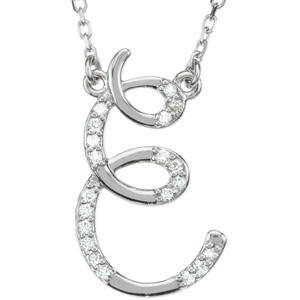 Gold Diamond Initial Necklace Ref 652103