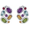 Amethyst, Citrine, Peridot, Sky Blue Topaz and Brazilian Garnet Earrings Ref 361917