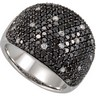 3 CTW Black and White Diamond Ring with Black Rhodium Plating Ref 246825