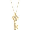 Diamond Key Necklace with 18 inch Cable Chain Ref 959406