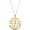 Circle Necklace with 18 inch Cable Chain Ref 929335