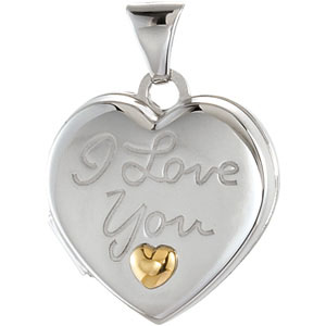 Heart Locket Engraved with I Love You | Ref. 769806
