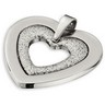 Amalfi  Stainless Steel Glitter Heart Pendant with Immersion Plate Ref 231230