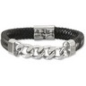 Leather and Stainless Steel Bracelet Ref 280668