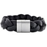 Braided Leather and Stainless Steel Bracelet Ref 642945