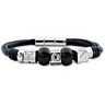 Leather and Stainless Steel Bracelet Ref 961985