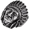 Stainless Steel Indian Head Ring Ref 240865