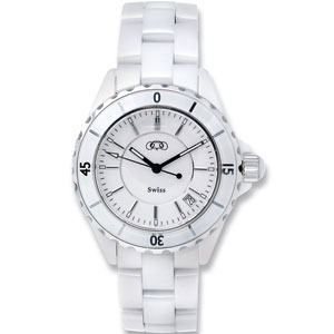 White Ceramic Couture  Watch for Ladies and Men Ref 413233