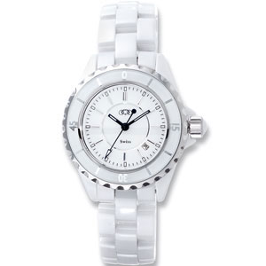 White Ceramic Couture  Watch for Ladies Ref 436941