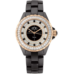 Black Ceramic Couture  Watch for Ladies and Men Ref 428050
