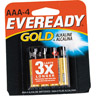 Eveready Gold Alkaline AAA Batteries 4 Pack Ref 683604