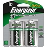 Energizer e2 Rechargeable D Batteries 2 Pack