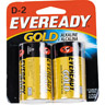 Eveready Gold Alkaline D Batteries 2 Pack Ref 944047