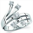 Platinum Diamond Right Hand Ring .5 CTW Ref 437355