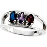 Birthstone Mothers Ring May hold up to 6 oval 5 x 3mm gemstones Ref 638459