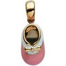 Hot Pink Baby Shoe Pendant 20.5 11.5mm Ref 269288