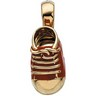 Red Baby Shoe Pendant 22.5 x 11mm Ref 994005