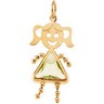 Girl Pendant with Triangle Cut Birthstone 7 x 7 x 7mm Ref 870470