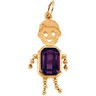 Boy Pendant with Emerald Cut Gemstone 7 x 5mm Stone Ref 395024