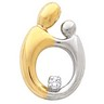 Mother and Child Hollow Back Diamond Pendant 20.25 x 14mm Ref 145339