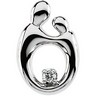 Mother and Child Diamond Pendant 14.75 x 10mm Ref 641637