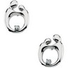 Mother and Child Diamond Post Earrings with Backs 13.5 x 9.75mm Ref 867909