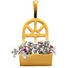The Original Window Box  Pendant Holds up to 12 gemstones Ref 492652